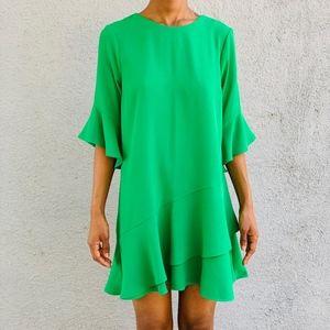 River Island (Petite) Green Draped Dress